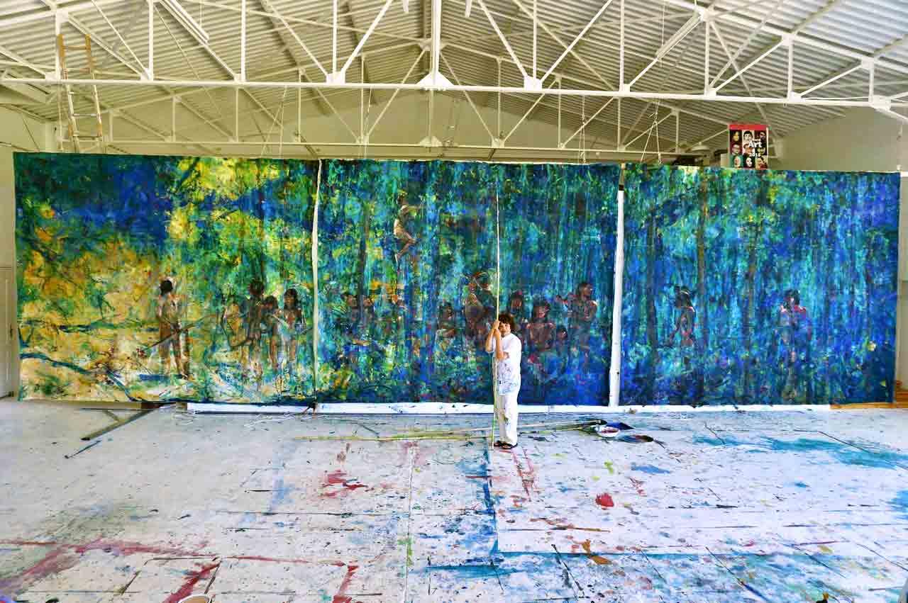Dalva Duarte Amazonia - Atelier Workshop Saint-Priest Ardèche Francema vez floresta na linha do Equador